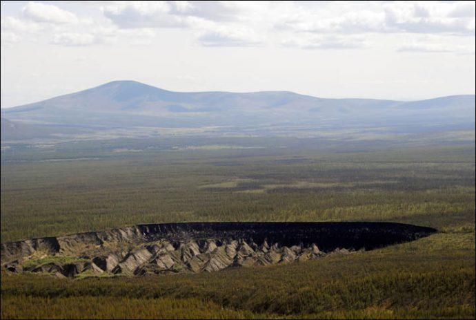 """Aparece uno de los mayores cráteres del mundo que podría ser la auténtica """"puerta al Inframundo"""""""