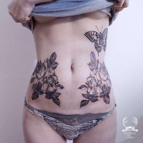 20 Increíbles tatuajes usados para tapar cicatrices