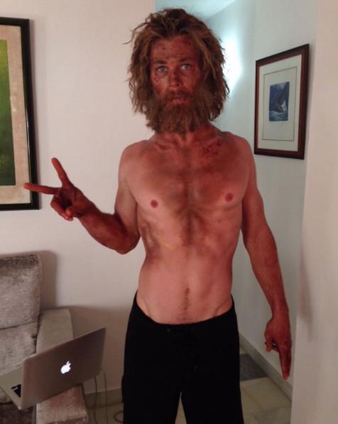 Para ser Thor hay que sudar; así se entrena Chris Hemsworth para conseguirlo