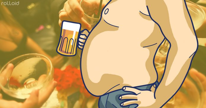 maneras no aumentar peso por culpa alcohol banner