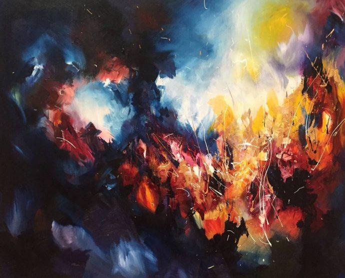 Melissa McCracken, la artista cuyos cuadros están inspirados en sus músicos favoritos