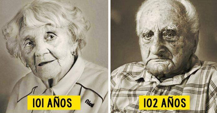 personas centenarias retratadas con su yo joven banner