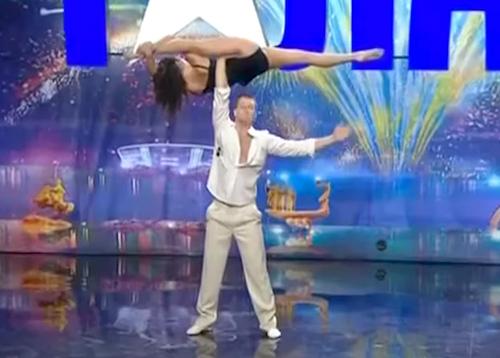 Una pareja sorprende a los espectadores de Got Talent Ucrania con un baile imposible