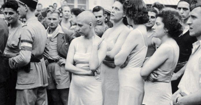 esclavas campos de concentracion nazi banner