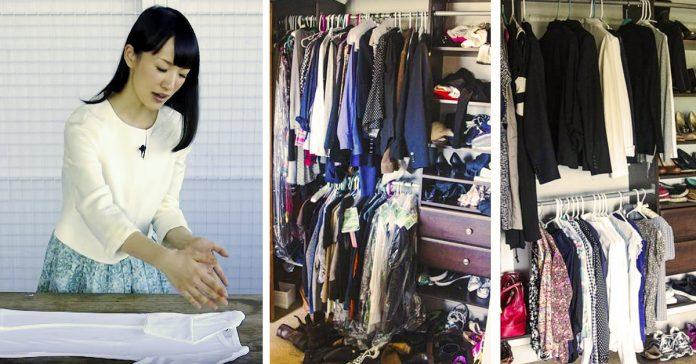 el metodo marie kondo para doblar guardar ropa banner