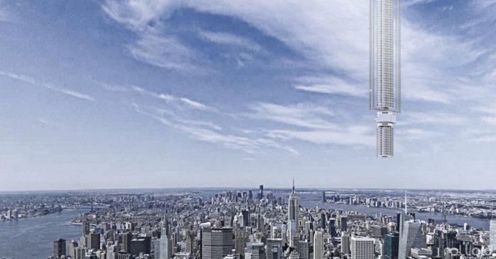 el rascacielos mas alto del mundo estara colgado del cielo banner