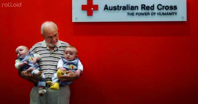 este hombre ha salvado a mas de dos millones de bebes con su sangre banner