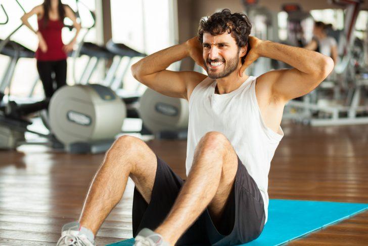 gimnasio ejercicio abdominales
