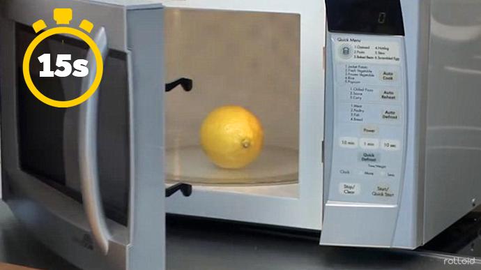 15 cosas que puede hacer tu microondas para que tu vida sea mas facil zumo limon