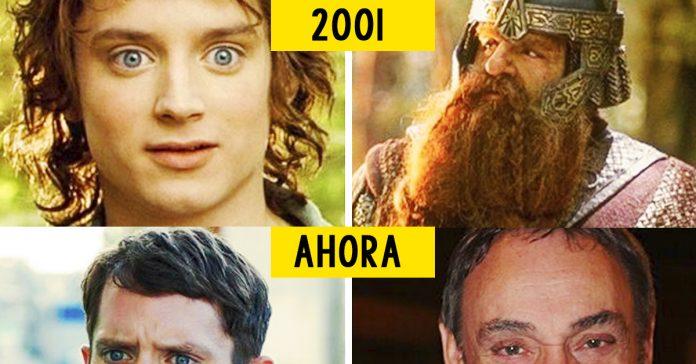 antes y despues actores senor de los anillos banner