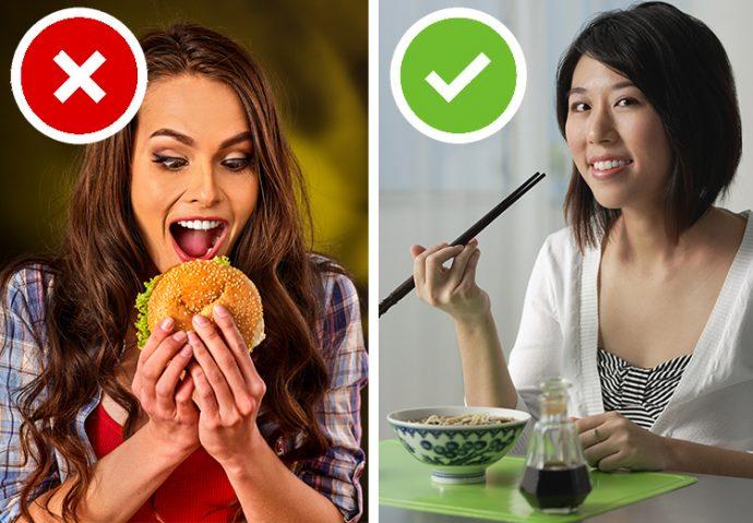 10 Trucos y cosas que hacen los asiáticos todos los días para estar delgados y no ganar barriguita