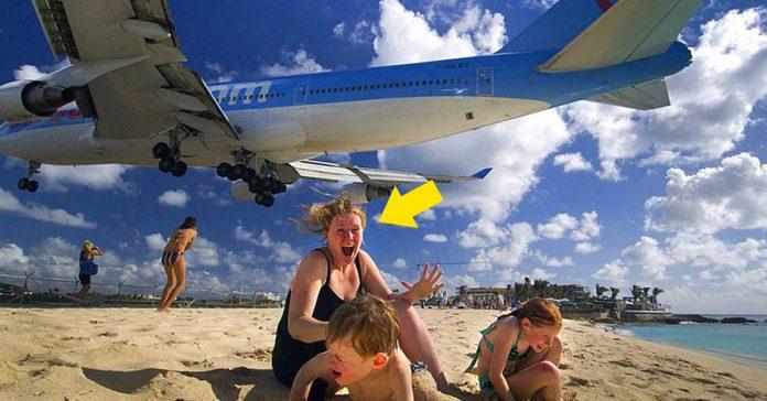 avion acaba vida mujer playa maho banner