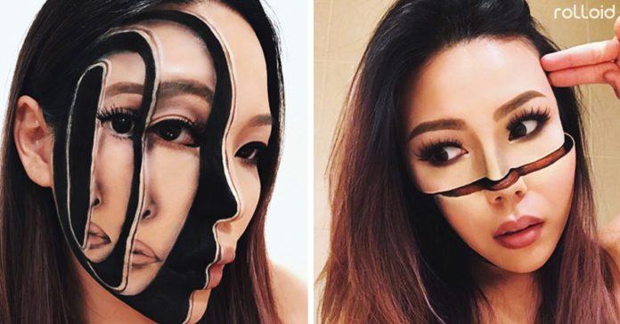 esta artista transforma su cara al completo con maquillaje banner
