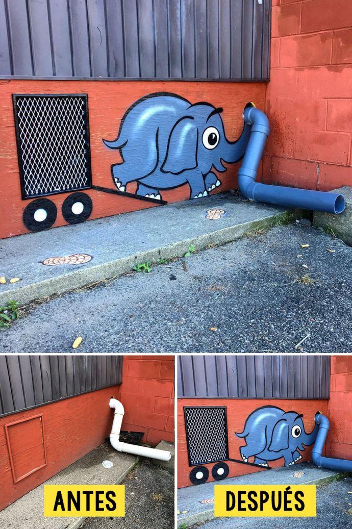 Las 15 Obras más increíbles y creativas que un arista callejero está pintando en las calles de Nueva York
