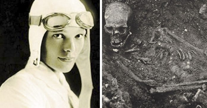 la muerte de amelia earhart piloto avion oceano atlantico banner
