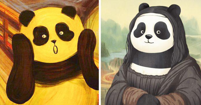 obras de arte famosas con osos panda banner