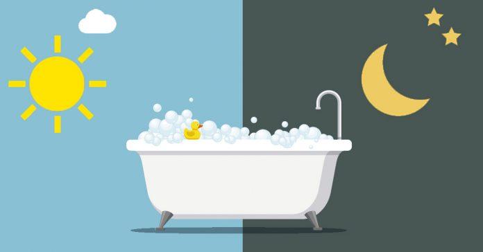 que es mejor ducharse por la manana o por la noche banner
