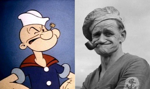 10 Famosos personajes de dibujos animados inspirados en personas reales de carne y hueso