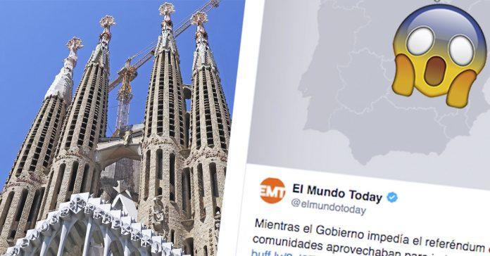 arrasa en las redes la noticia que ha publicado el mundo today sobre cataluna y el nuevo mapa de espana banner