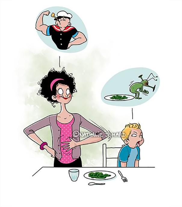 20 Sorprendentes Ilustraciones que demuestran lo que significa realmente ser madre