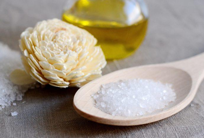 exfoliante aceite sal