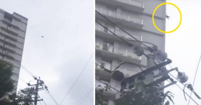 un caradura trata de fugarse de un hotel sin pagar y acaba colgando de 19 plantas banner