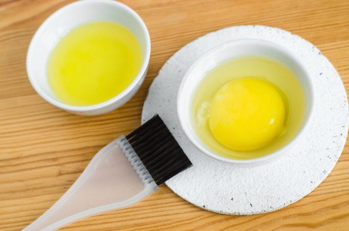 yema aceite huevo