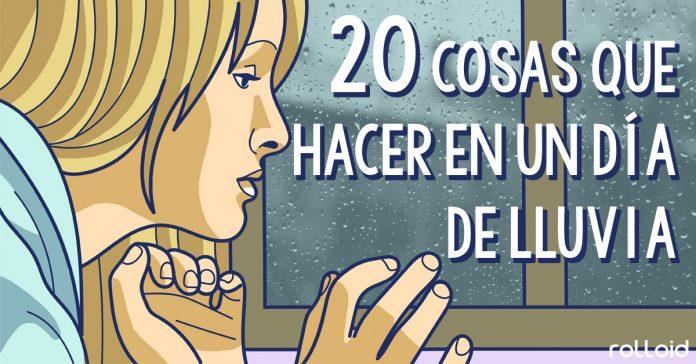 20 cosas que puedes hacer dia de lluvia banner