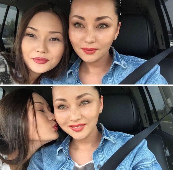20 Imágenes de madre e hija que aparentan la misma edad y es imposible distinguirlas