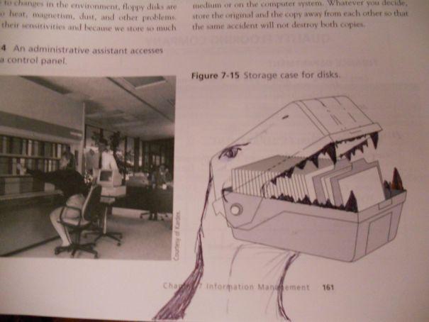 20 Divertidas obras de arte que hicieron estudiantes aburridos en sus libros de clase