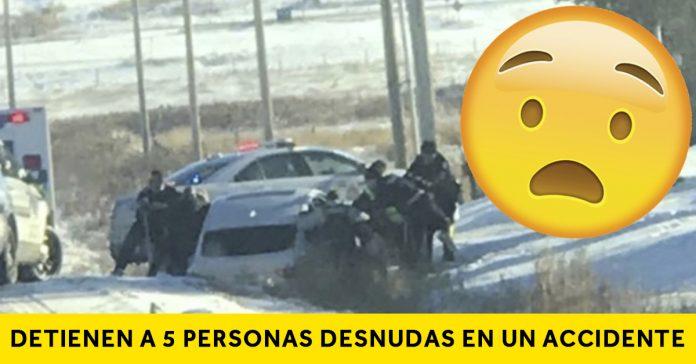 detienen 5 personas desnudas accidente banner