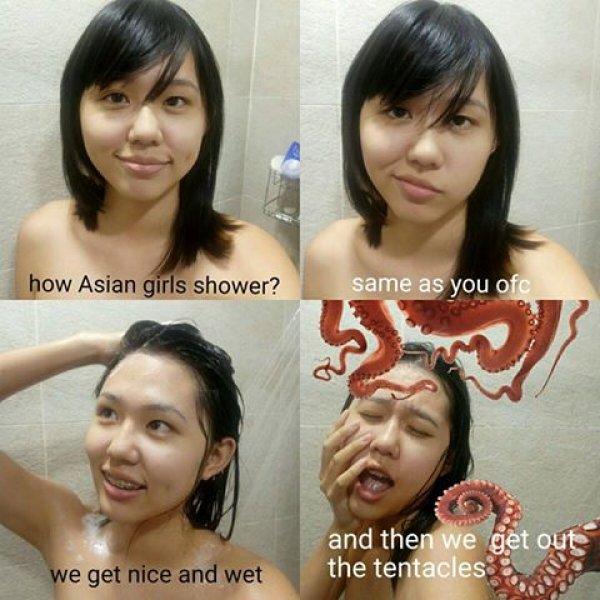 13 Divertidas imágenes que muestran a la gente duchándose según su país