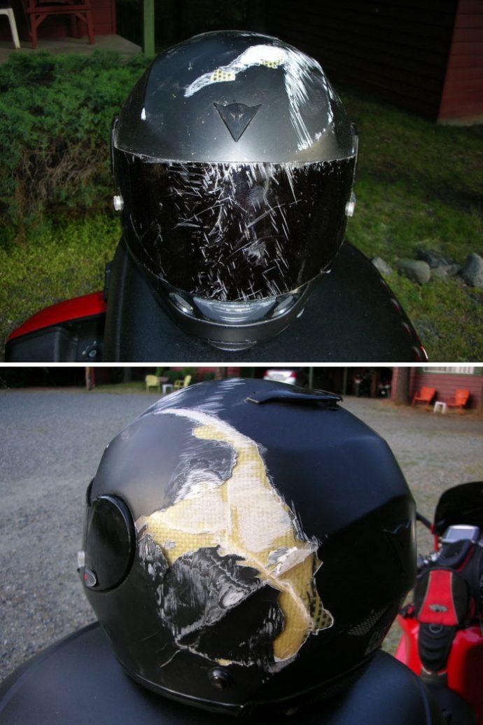 20 Imágenes que demuestran por qué siempre deberíamos conducir con casco
