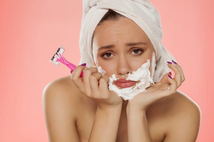 barba afeitar mujer depilar