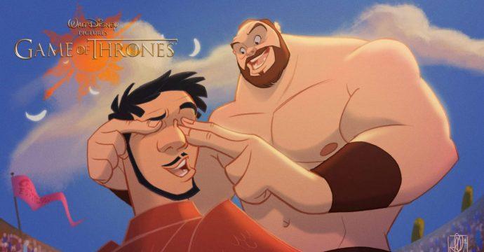 15 Personajes de Juego de Tronos mostrados como si estuviesen dibujados por Disney