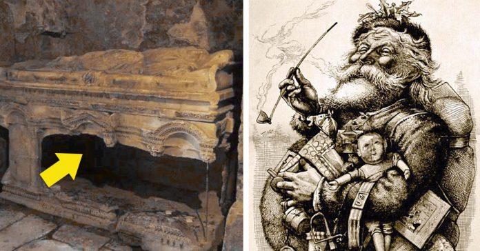 los arqueologos creen haber encontrado la tumba de papa noel banner