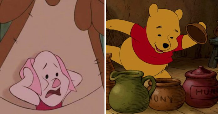 8 personajes de los dibujos de winnie the pooh que representan enfermedades mentales banner