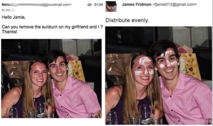 20 Divertidas imágenes del diseñador que tima a sus clientes cuando le piden que les retoque las fotografías