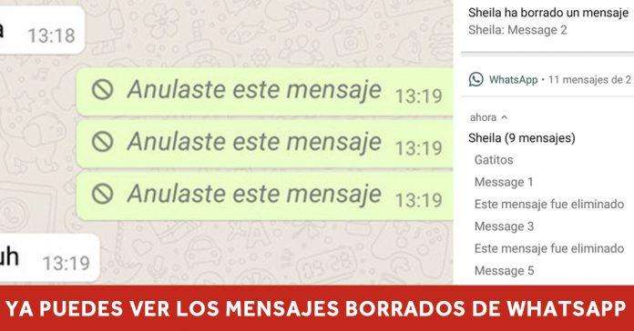 lanzan aplicacion whatsapp mensajes borrados banner