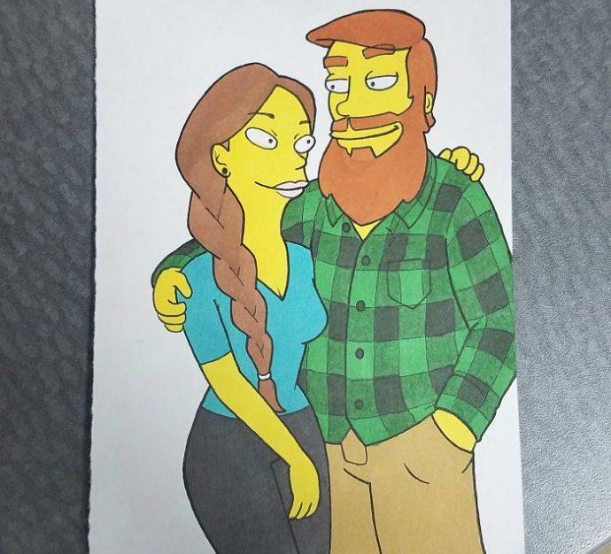 10 Ilustraciones que le ha hecho un novio a su pareja dibujándola como sus personajes animados favoritos