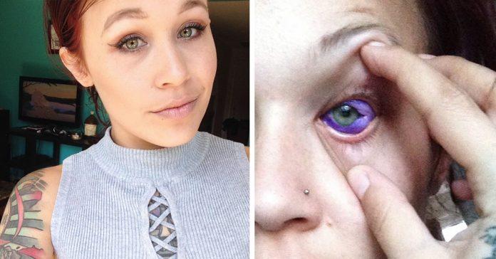 una modelo advierte al mundo del riesgo que conlleva tatuarse los ojos banner