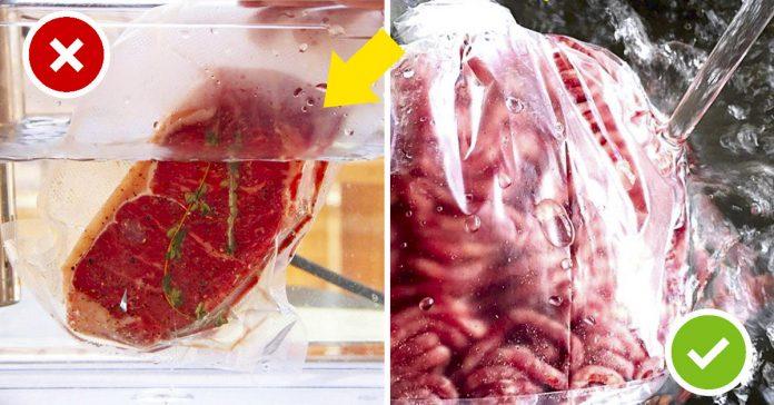 como descongelar la carne banner