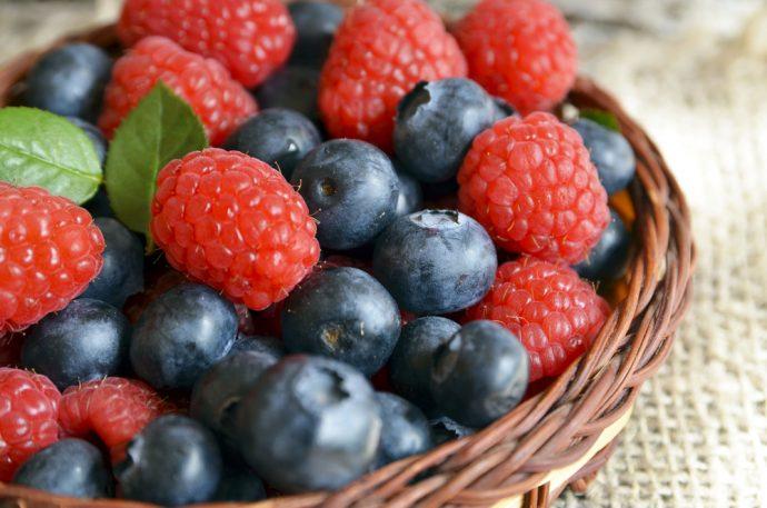 frambuesas arandanos frutos rojos