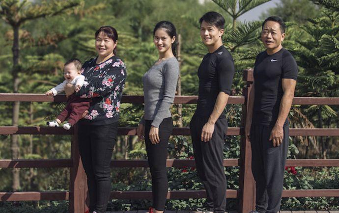 Una familia china da un giro radical en 10 imágenes después de 6 meses