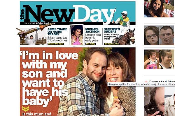 Kim y Ben, la madre de 51 años y su hijo de 32 que mantienen relaciones