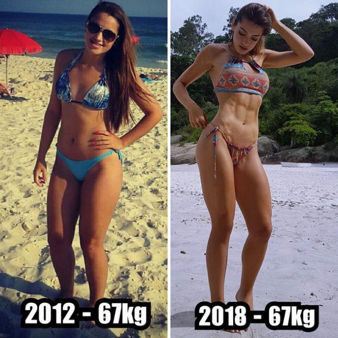 """20 Imágenes del antes y después de personas con un gran cambio físico que demuestran que el peso """"no importa"""""""