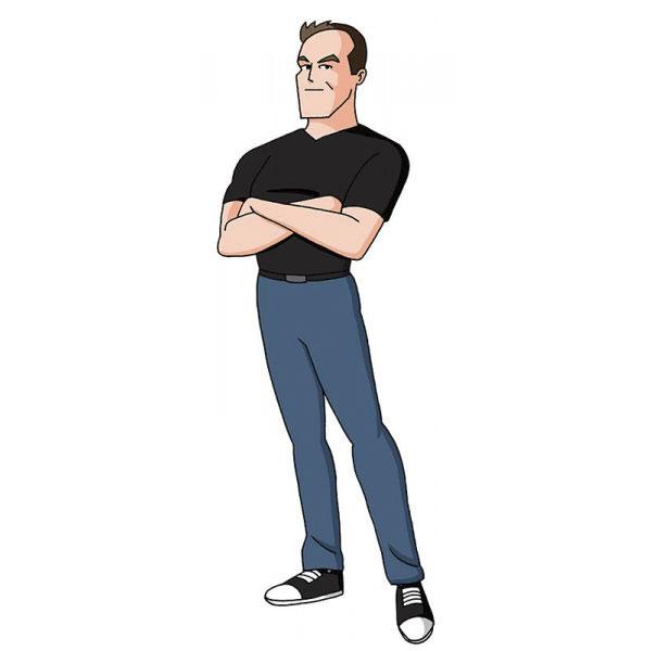 20 Divertidas Imágenes del artista que se ha dibujado a sí mismo en más de 100 estilos de dibujos animados
