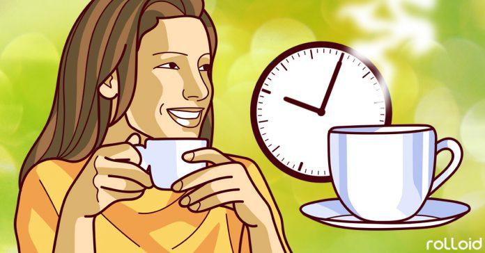 el momento perfecto para tomar un cafe banner