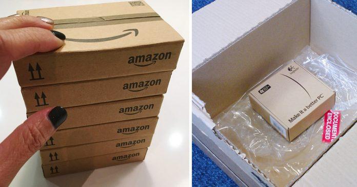 esta es la razon por la que amazon empaqueta objetos pequenos en grandes cajas banner