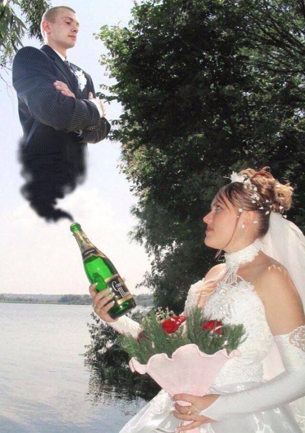 20 Vulgares imágenes de boda que dijeron adiós a la tradición y no acabaron arruinando la sesión de fotos
